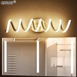 Nowoczesne oświetlenie lustra led kinkiet kinkiet łazienka aluminium oświetlenie wewnętrzne kinkiety vanity lampa domowa oprawy w Wewnętrzne kinkiety LED od Lampy i oświetlenie na