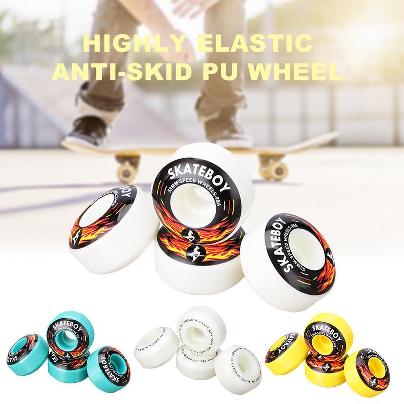 Skateboard Wheel Four-Wheel Double-Warping Fancy Action Game 52*32 High Rebound High-Hardness Competitive Wear-Resistant