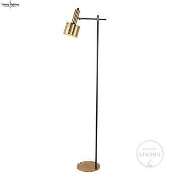 Creative Simple retro modern Floor Lamps Copper Led Standing Lamp Chrome Gold Living Room Bedroom Art Home Decoration Lighting