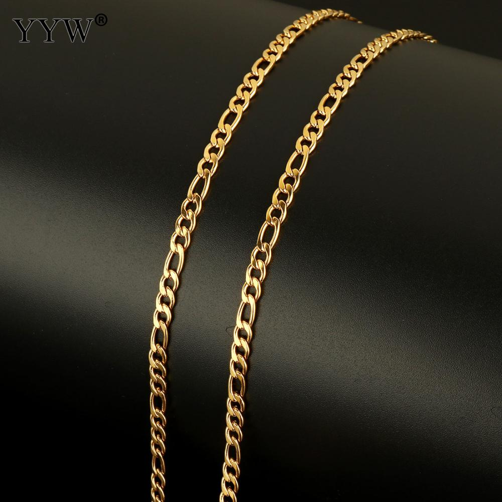 20m Spool Stainless Steel DIY Jewelry Findings Women Men Necklace Bracelet Making chain Gold Original Color 7x4x1mm 6x4x1mm in Jewelry Findings Components from Jewelry Accessories