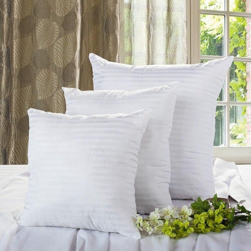Weiß Kissen Einfügen Füllung PP Baumwolle Werfen Kissen Inneren Kern Decor Auto Stuhl Weichen Sitzkissen 35/40/ 45/50/60/70 cm 40529