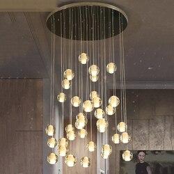 Di Cristallo Nordic LED G4 Lampade a sospensione Loft Caffè Camera Da Letto Illuminazione Lustri Pendente Lampade A Sospensione Lampade Impianti e apparecchi da cucina Apparecchio