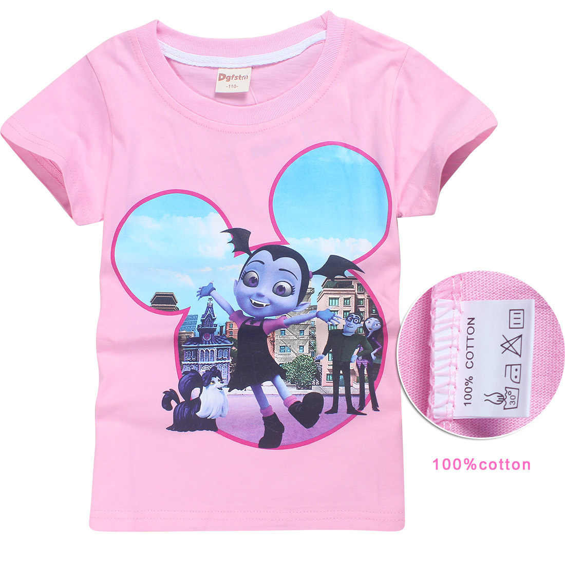 0eeb3678c ... 2018 summer Vampirina girls T-shirt boys and girls Bobo Choses cartoon  moana trolls cute ...