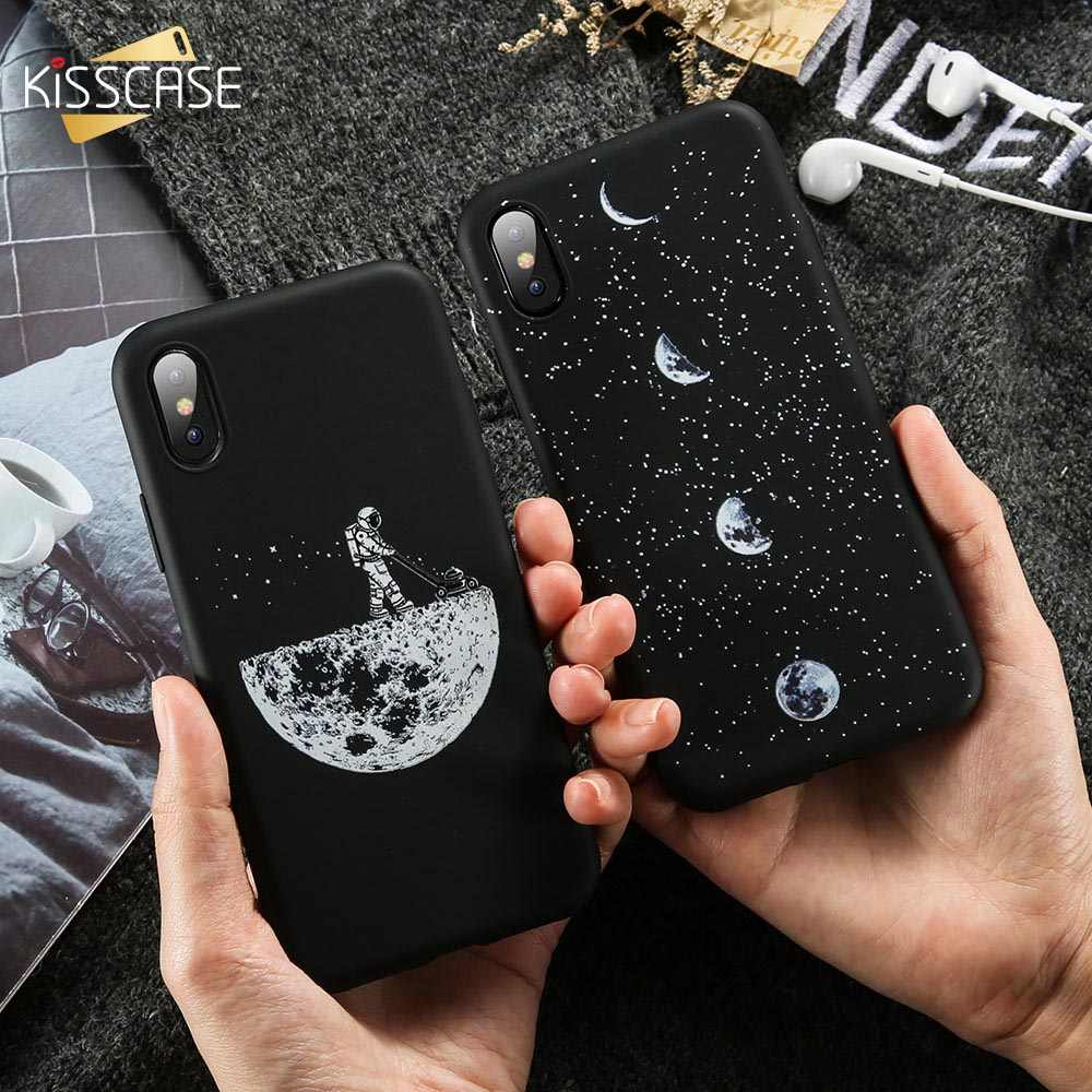 KISSCASE Soft TPU Phone Case For Xiaomi Mi 8 Lite Mi 9 SE A2 A1 Mix 3 2 Starry Night Cases For Redmi Note 7 8 Pro 6A Back Covers