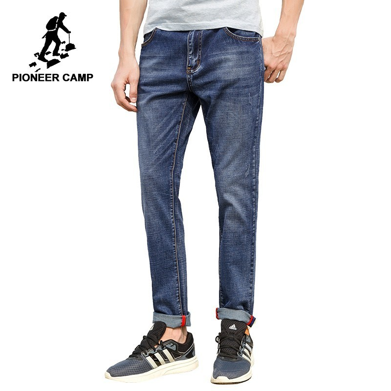 Pioneer Camp Jeans Men Brand Clothing High Quality Slim Male Casual Pants Cotton Denim Trousers For Men
