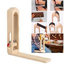 Подпорный зажим из кожи бука, деревянные инструменты для шитья, шитья, обработки шнуровкой, ремесла с дизайном петли на крючке