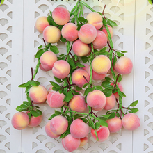 3Pcs Simulation Vegetable String Fruit String Farmhouse Decoration Peach String Hanging String Hotel Display Photography Props цена и фото