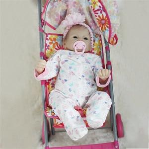 Image 4 - 비비 다시 태어난 22 inch 부드러운 실리콘 비닐 인형 55cm 다시 태어난 아기 인형 신생아 살아있는 bebe reborn 인형 생일 선물