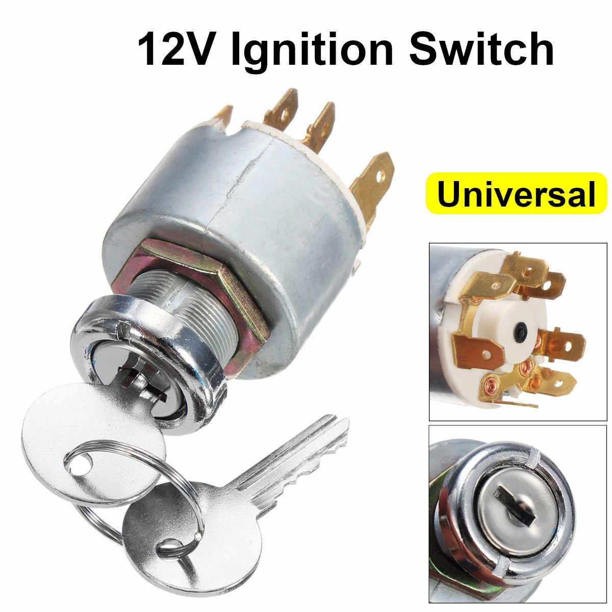 12v 4 Position Universal Car Boat Motorcycle Ignition Lock Cylinder Switch Control W 2 Keys For Lucas Spb501 Car Key Aliexpress