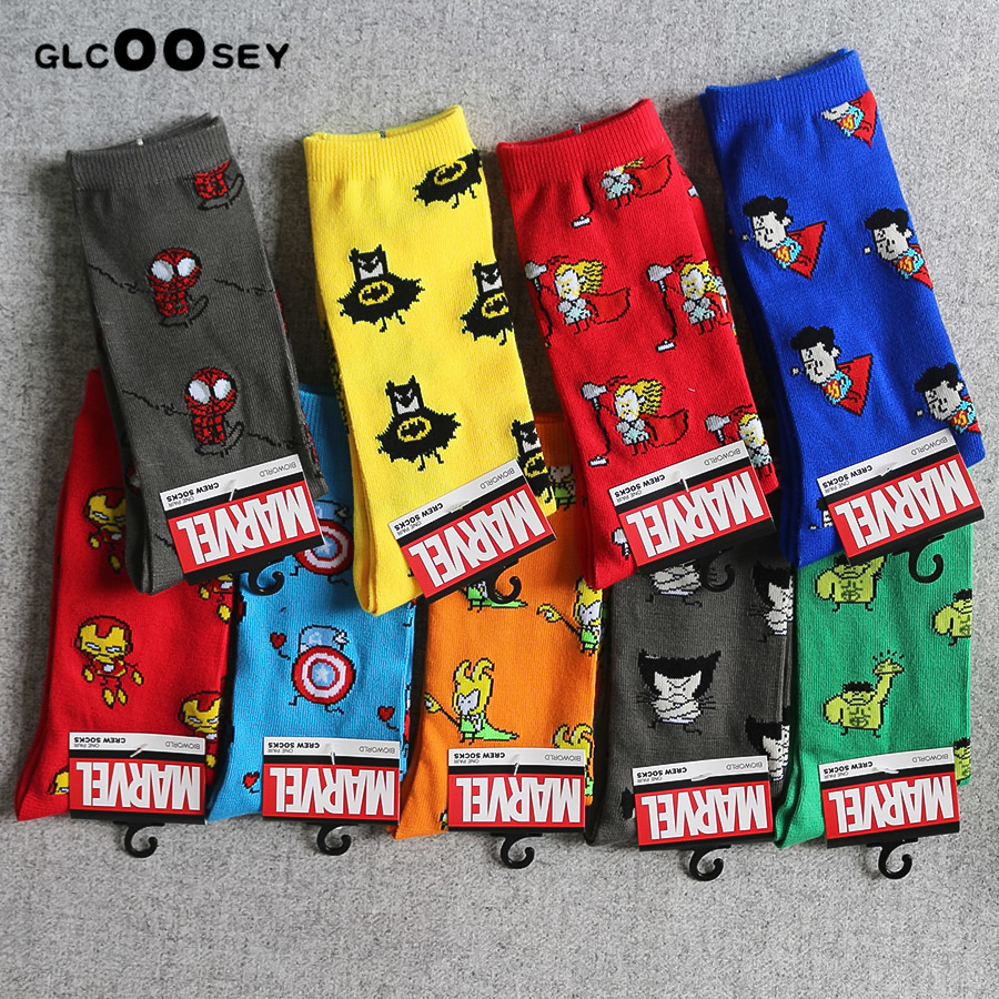 Underwear & Sleepwears 2 Pairs Men Socks Cotton Girls Calf Sock Ankle Socks Mc Hero Series Spiderman Joker Superman Batman Wonder Woman Flash As Gifts