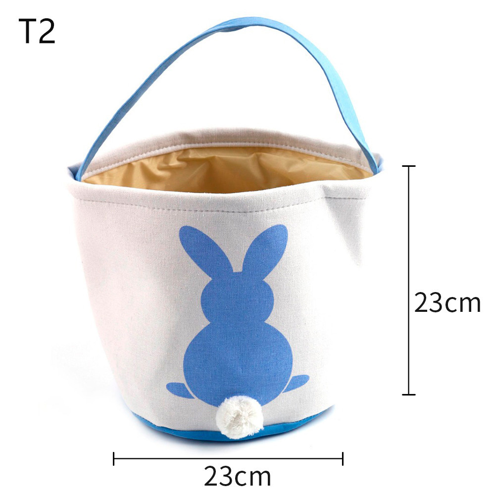 Easter Basket Bag 10pcs/lot 18 Styles Easter Bunny Tote Bag Monogrammed Blank Easter Rabbit Buckets Fast Shipping-in Gift Bags & Wrapping Supplies from Home & Garden    3