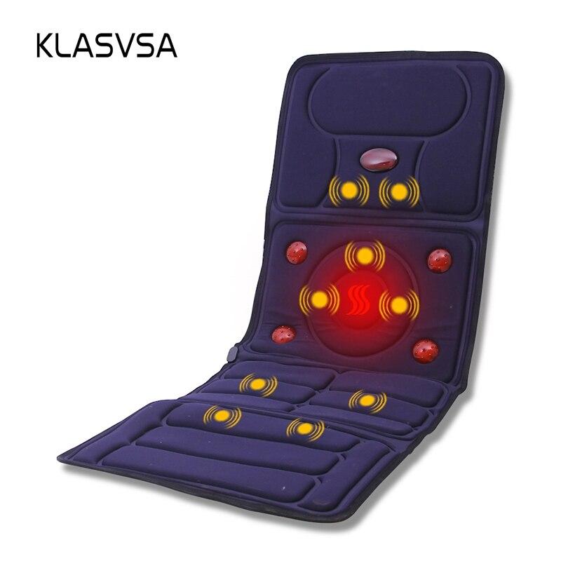 KLASVSA Elektrische Vibrator Massagematratze Fern-infrarot-heizung Therapie Hals Zurück Massage Entspannung Bett Vibrador Gesundheitswesen