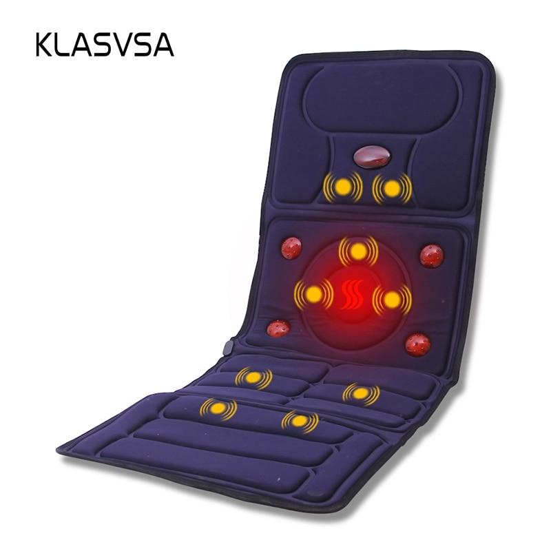 Klasvsa Электрический Вибратор массажер матрас дальнего инфракрасного отопления терапии шеи, массаж спины отдыха кровать vibrador здравоохранени...