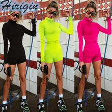 Summer Women Playsuits Women Slim Long Sleeves High Waist O-Neck Bodycon Playsuit Solid Casual Playsuits white stripe pattern roll neck long sleeves drawstring waist playsuits