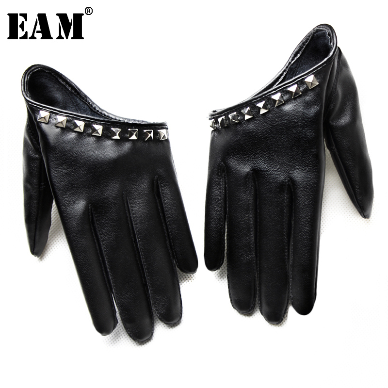 [EAM] 2021 New Spring Summer Colors Print Personality Hip Pop Sunscreen Beading Fashion Tide Accessories Gloves OA993
