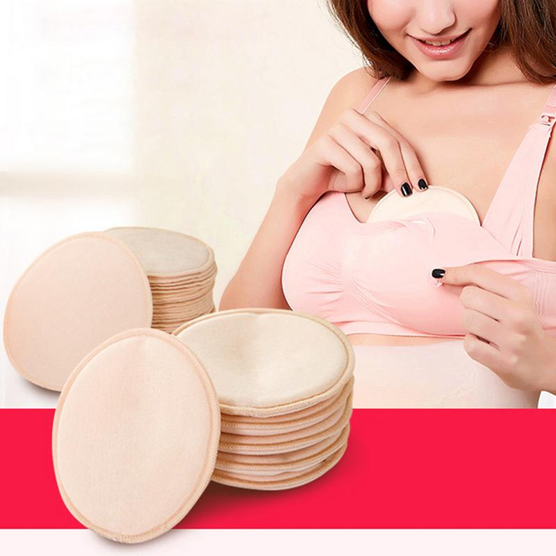 10 PCS/set Anti Milk Overflow Nursing Breastfeeding Pads Pure Cotton Thin Breathable Washable Reusable For Pregnant Women Mom