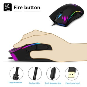 Image 4 - Delux M625 PMW3360 Sensor Gaming Mouse 12000DPI 7 Programmable Buttons RGB Backlight Wired Mice with Fire Key For FPS Gamer