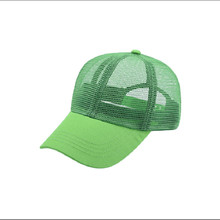 Simple Net Caps For Men And Women Mesh Breathable Fluorescent Color Baseball Cap Summer Unisex Sun Visor Hat Couple Hats