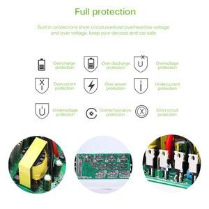 Image 4 - 4000 واط/5000 واط الشمسية محول طاقة السيارة DC12/24 فولت إلى AC110/220 فولت شرط موجة محول شاشة ديجيتال 4 USB واجهات