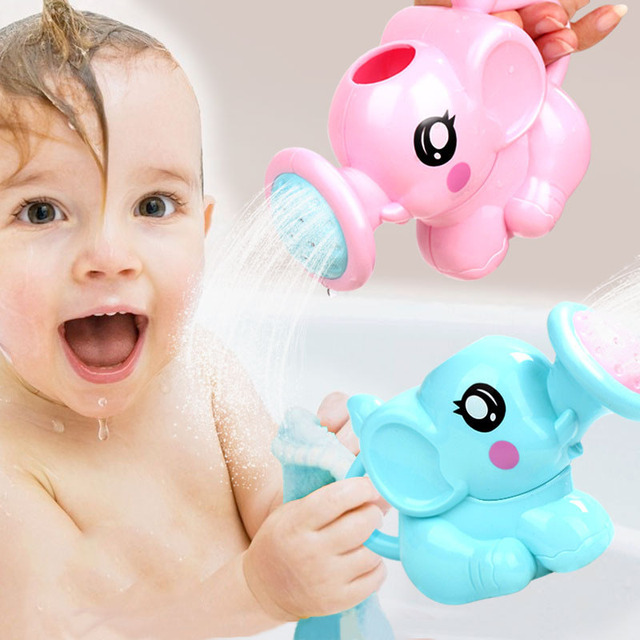 1pc Baby Bath Toys Cute Cartoon Plastic Elephant Watering Pot Kids Bath Shower Tool Water Toys For Children Boys Girls Gift