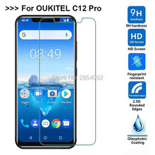 2pcs Safety Full Cover Tempered Glass For Oukitel C12 Pro Protective Film Screen Protector For Oukitel C12 Pro Guard(China)