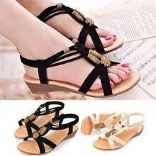 Women Sandals Roman Ladies Sandals 2018 New Wedge Sandals Bohemian Beach Shoes Beaded Summer Women Shoes Ladies Sandals