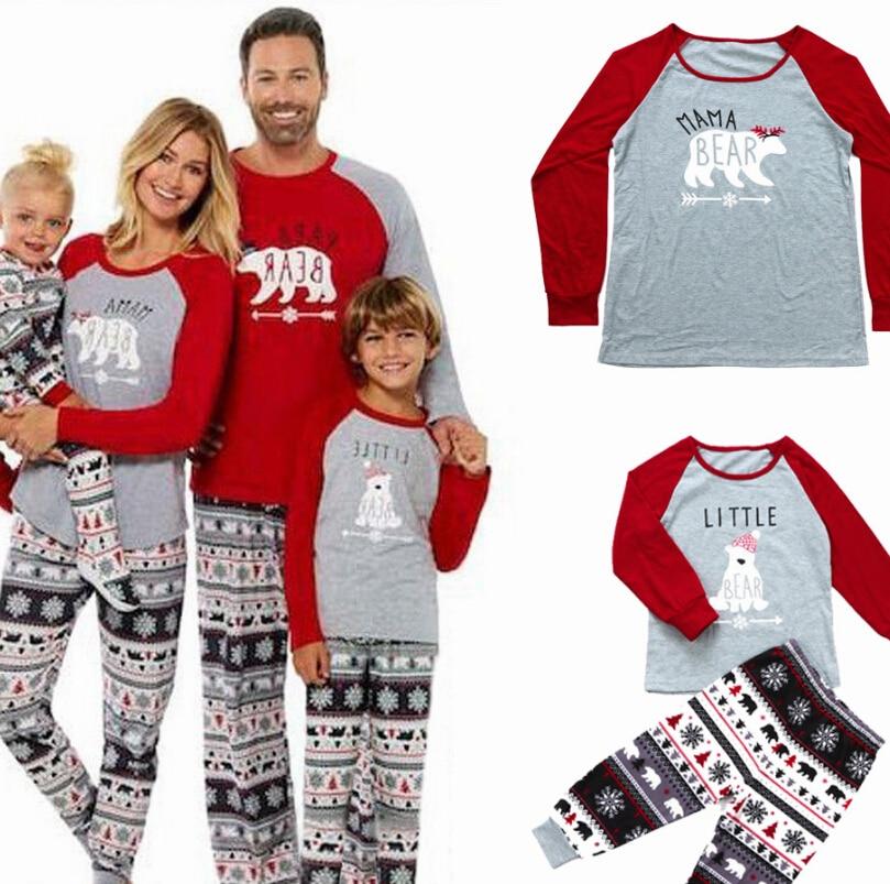 Nightwear Pajamas-Set Matching Long-Sleeve Xmas Family Baby Casual New Cotton Snowflake