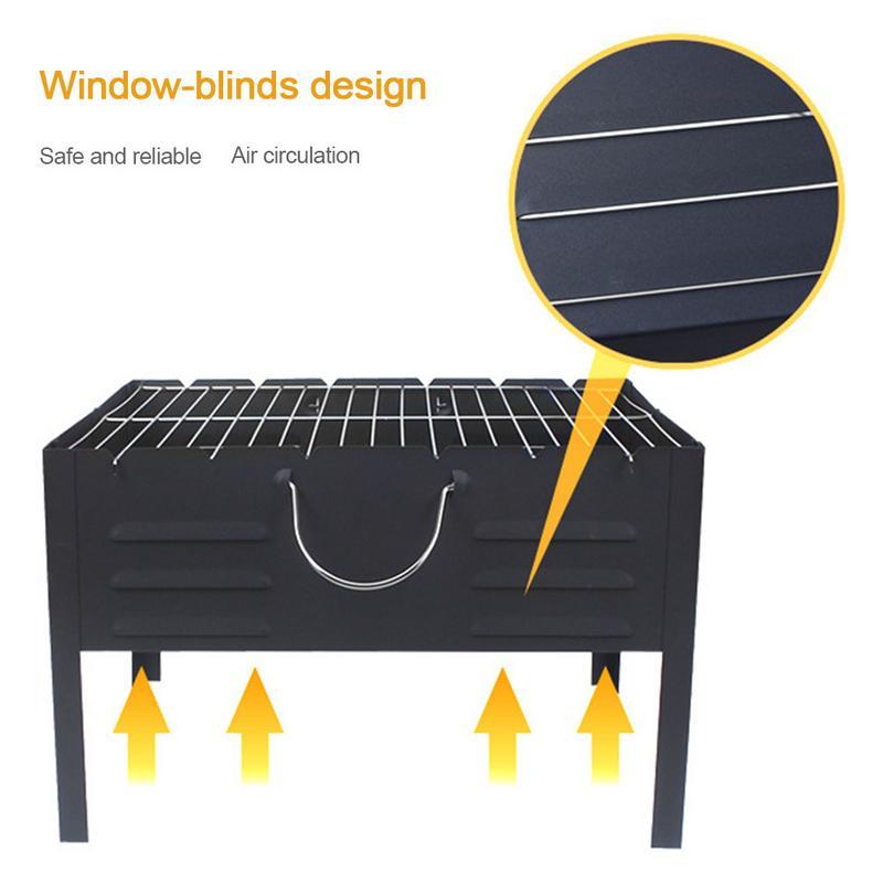 Résistance à hautes températures portative extérieure d'outils de Camping de charbon de bois de gril de Barbecue aucune déformation réutilisable