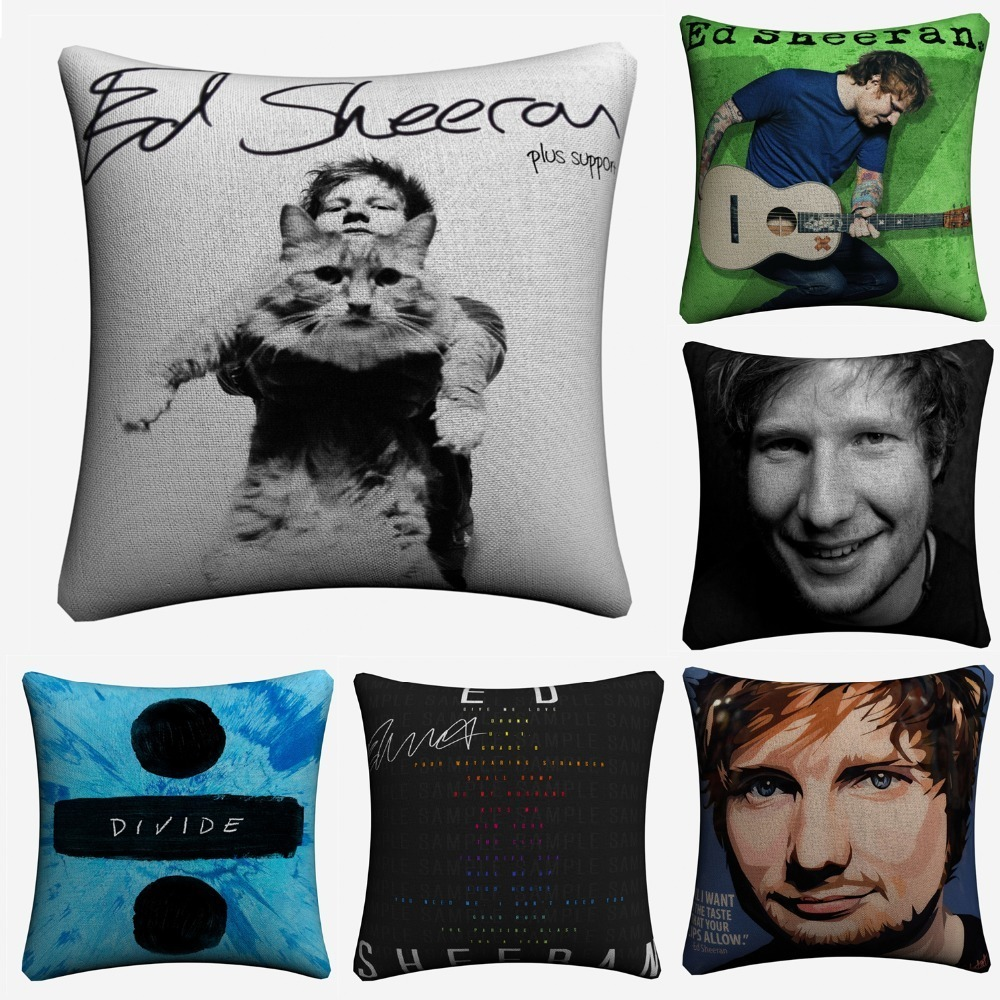Sofa Lyrics By Ed Sheeran Ed Sheeran Famous Singer Decorative Pillow Case For Sofa 45x45cm Linen Cushion Cover Home Decor Throw Pillow Covers Almofada