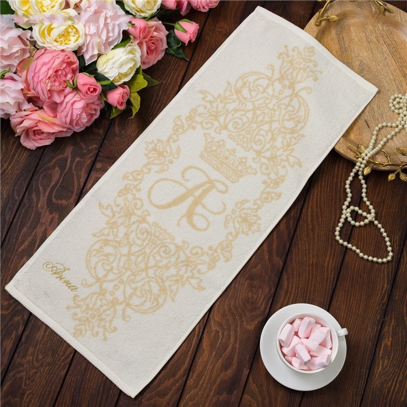 Фото - Towel именное Terry embroidery Anna 30х70 cm 100% cotton, 420гр/m2 4072495 young time travel portable thickening cotton compressed towel white l