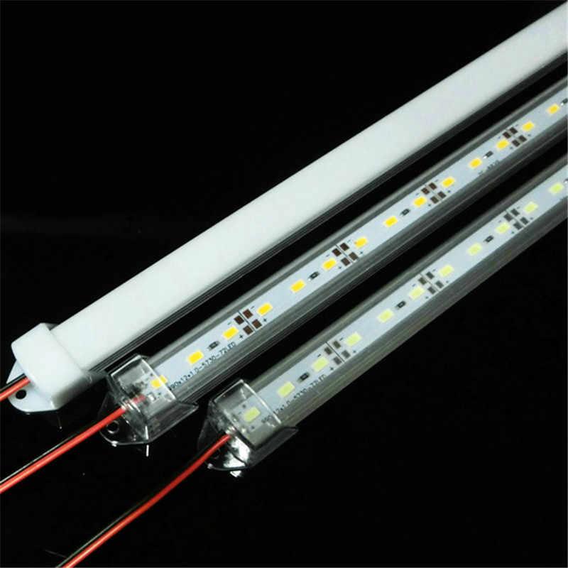 CLAITE 50 センチメートル SMD 5730 36 LED 剛性ストリップチューブバーライトランプ U アルミシェル + PC カバー DC12V LED キャビネット夜の光