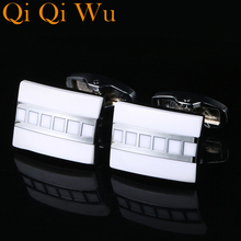 New French Sleeve Cuff Buttons Shirt link For Mens Gifts Unique Wedding Gold Cufflinks Man Business Gift Suit Qi Wu