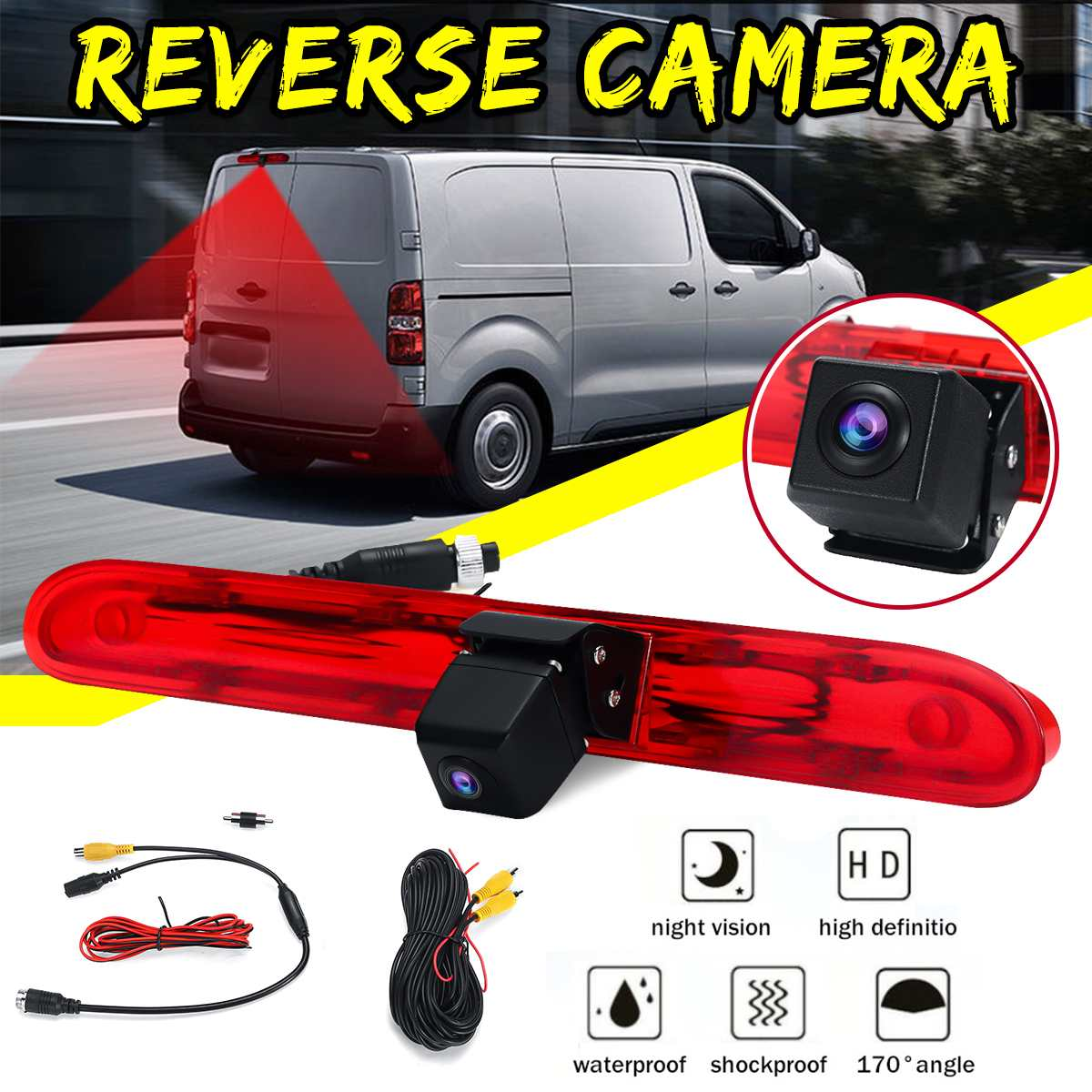 Car Reversing Backup Rear View Brake Light Camera For Peugeot Expert Van 2016 Onwards Waterproof IP68 image