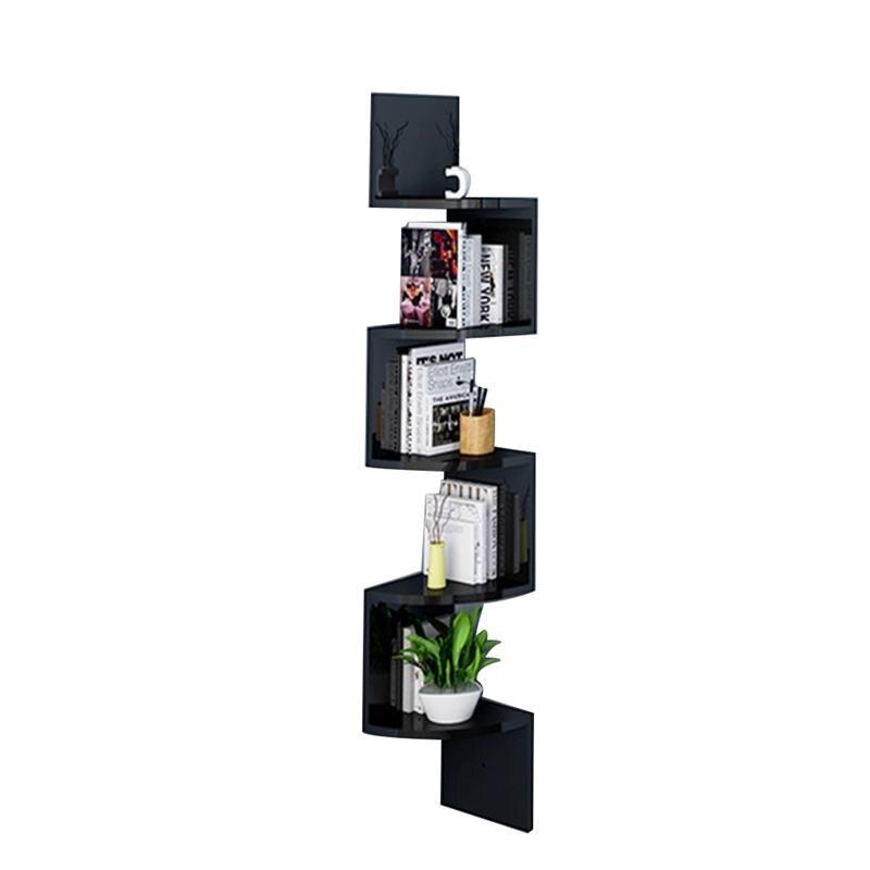 5 Tier Wall Mount Corner Shelves Zig Zag Corner Floating Display Shelf