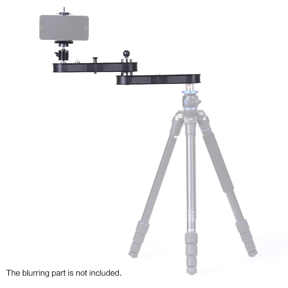 Andoer Camera Slider Panning Linear Motion 4xDistance for GoPro Action Camera Smartphone DSLR ILDC Camera Video