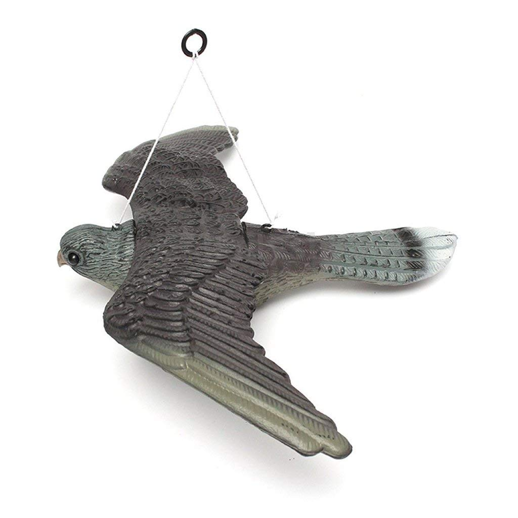 Realistic Flying Bird Hawk Pigeon Decoy Pest Control Garden Scarer Scarecrow Ornament