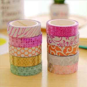 Decorative Adhesive Tape-Tools Paper Stationery Sticker School-Supplies Candy-Color Korean
