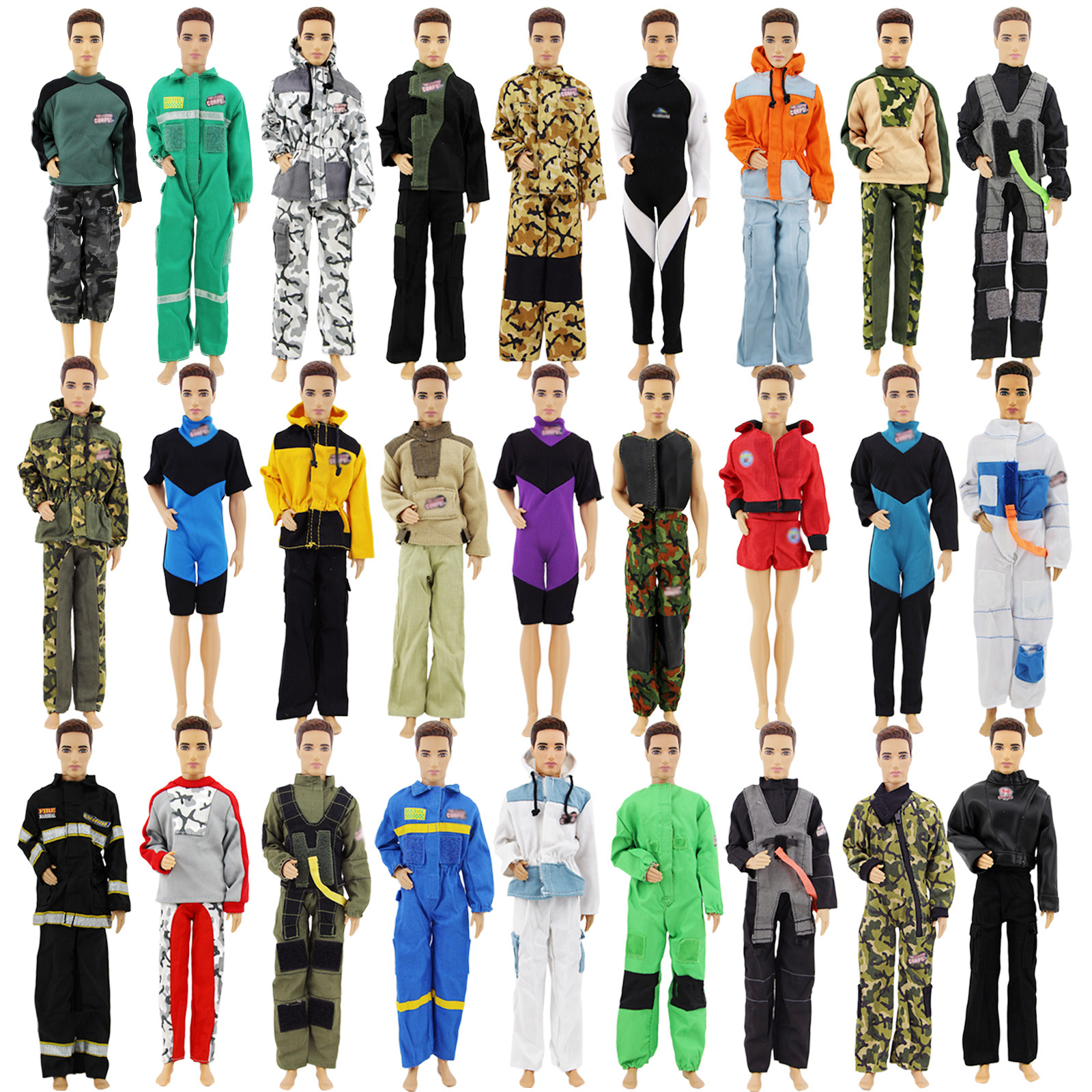 Dolls & Stuffed Toys 3 Set Random Outfits Daily Wear Pants Trousers Long Sleeves Coat Jacket Men Winter Accessories Clothes For Barbie Ken Doll Toy Dolls Accessories