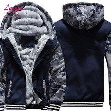 US/EU SIZE Super Warm Hoodies Sweatshirts for Men Winter Thick Fleece Men's Jackets Casual Zip up Hoody Adult Coats Top