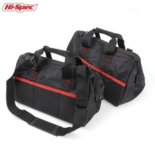 Hi-Spec Tool Bag Electrician Bag for Tools Hardware 14 16 Inch Shoulder Work Bag Anti-dirty Base Tool Pouch Storage Organizer 12 14 16 18 multi function electrician shoulder storage bag tool kits workpro
