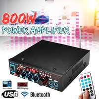 HIFI 2CH 800W Audio Home Amplifier 220V Home Theater Amplifiers Audio with Remote Control USB SD Card Bluetooth Original