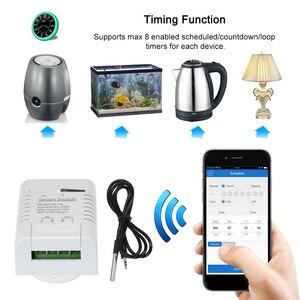 Image 3 - EWeLink TH 16 Smart Wifi Schakelaar Monitoring Temperatuur Draadloze Domotica Kit met Waterdichte DS18B20 Temperatuur Sensor