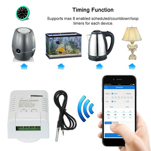 Image 3 - eWeLink TH 16 Smart Wifi Switch Monitoring Temperature Wireless Home Automation Kit with Waterproof DS18B20 Temperature Sensor