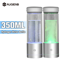 AUGIENB 350ML Hydrogen Rich Water Bottle Ionizer Generator Seperate H2 and O2 High Pure Alkaline Water Ionizer Hydrogen Rich Cup