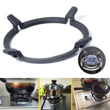 1pc Black Wok Stands Cast Iron Pan Support Rack For Burners Gas Hobs Cookers Kitchecn Supplies Tool Accessories