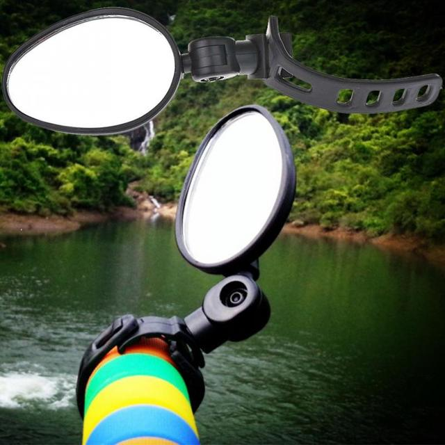 Easy-to-Install Rotating Handlebar Rearview Mirrors Set