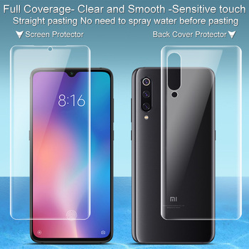2PCS Full coverage for Xiaomi MI9 MI 9 Pro 5G Screen protector and Back cover Imak All Standing Hydrogel Clear Protective Film