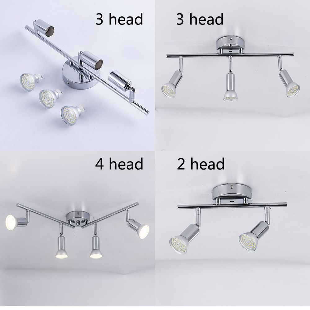 Adjustable 2/3/4 Heads LED Chandeliers Living Dining Room Showcase Led Ceiling Chandelier Light Rotatable Home Lighting Fixtures