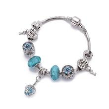 4d62884f8827 1JYX pulsera de plata para mujer brazalete momento encanto cuenta firma  serpiente Chian Fit pandora cuentas Diy cuenta joyería a.