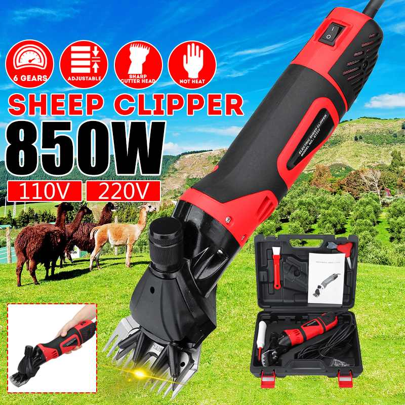 850W 110V/220V Electric Sheep Shearing Clipper Scissors Shears Cutter Goat Horse Not Heat Efficient 6 Gears Speed 13 teeth blade850W 110V/220V Electric Sheep Shearing Clipper Scissors Shears Cutter Goat Horse Not Heat Efficient 6 Gears Speed 13 teeth blade